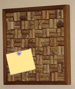 Wine Cork Corkboard