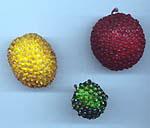 beaded artificial fruit