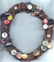 Button Grapevine wreath