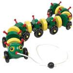 Wood Toy Caterpillar