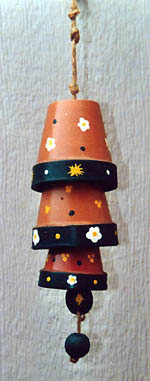 Country crafts information for Terracotta wind chimes