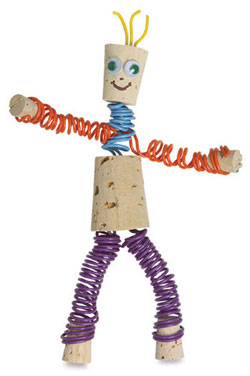 wine cork man