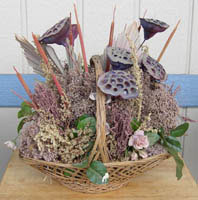 dried flower basket