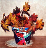 Decoupage Terra Cotta Flower Pot