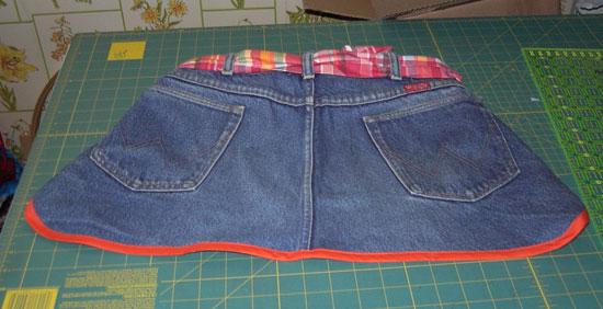 Jean apron front