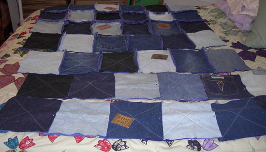 rag quilt layout