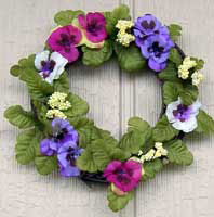 Pansy Grapevine Wreath