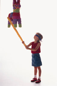 girl with pinata