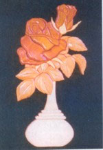 Red Rose Intarsia