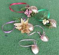 Christmas Seashell Ornaments