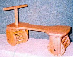 wooden town car