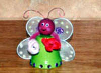Clay Pot Butterfly