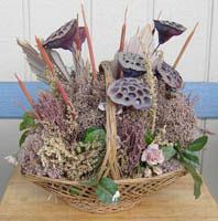 dried flower basket