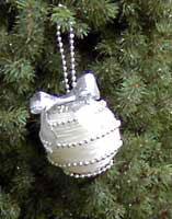 Pearl Ball Christmas Ornament