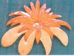 Red Flower Intarsia