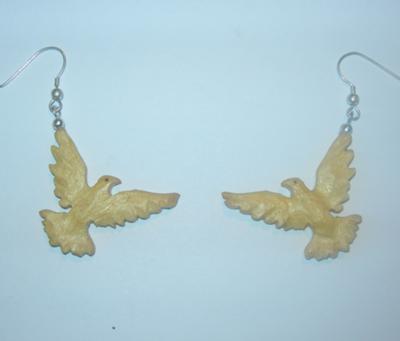 peace dove earings