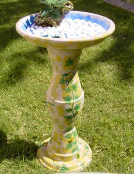 My First Clay pot bird  bath